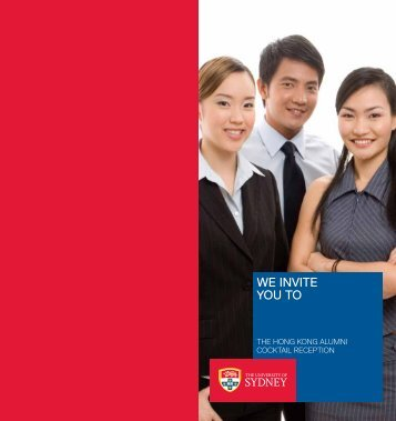 WE INVITE YOU TO - The University of Sydney