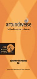 ART u WEISE 2-11 WEB.indd - Evangelische Kirche Ludwigsburg
