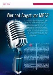 Wer hat Angst vor MPS?