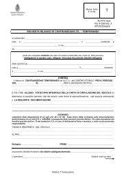 modulo richiesta rilascio di contrassegno ztl tipologia T- temporaneo