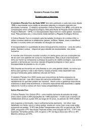 1 Relatório Planeta Vivo 2008 Sumário para a ... - WWF Brasil