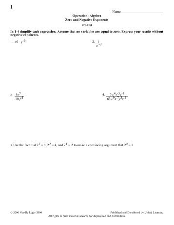 algebra expression positive negative and zero Example 3a: evaluating expressions with zero and negative  with the opposite  (positive) exponent in the numerator exponents simplified.