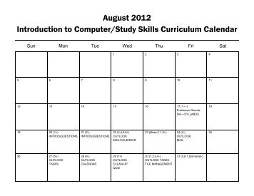 August 2012 Introduction to Computer/Study Skills ... - Resources
