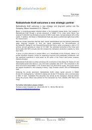 Rabbalshede Kraft AB (publ) projekterar och uppför ... - Cision