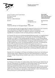 Aan de Voorzitter van de Tweede Kamer Der Staten ... - docs.szw.nl