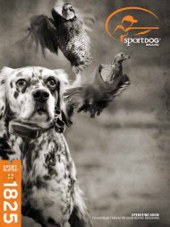 OPERATING GUIDE - SportDOG