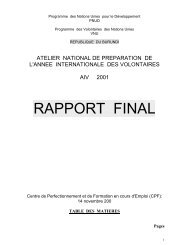 RAPPORT FINAL - World Volunteer Web