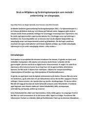 Bruk av Miljølære og forskningskampanjen som metode i ...