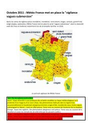 carte de vigilance vagues-submersion de Météo France