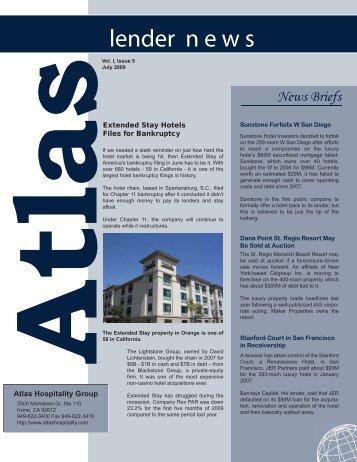 Lender News 0709 1a.ai - Hotel Law Blog