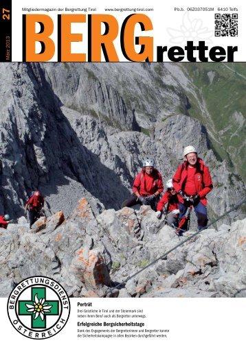 Aktueller BERGretter Tirol Nr. 27
