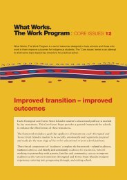 Improved transition – improved outcomes - What Works