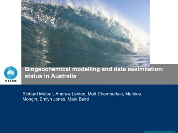 Biogeochemical modelling and data assimilation: status in Australia