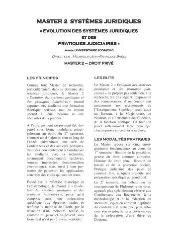 Evolution des systèmes juridiques et pratiques ... - Histoire du droit