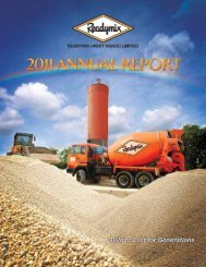 Readymix (WI) Limited 2011 Annual Report - TCL Group