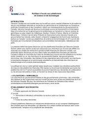 Politique d'accès aux plateformes de science et ... - Genome Canada