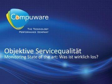 Objektive Servicequalität - Q to be