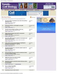 Trends in Cell Biology - Most Read Articles - Microbiology