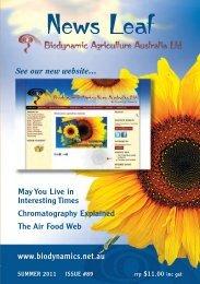 #89 News Leaf_News Leaf - Biodynamic Agriculture Australia