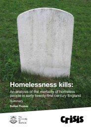 Homelessness kills - Executive Summary
