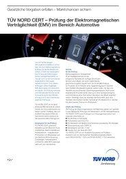 (EMV) im Bereich Automotive - TÜV Nord