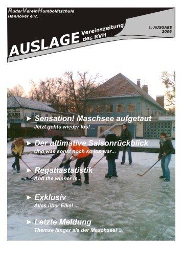 Auslage 01 2006 - RuderVerein Humboldtschule Hannover eV