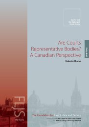Are Courts Representative Bodies? A Canadian Perspective