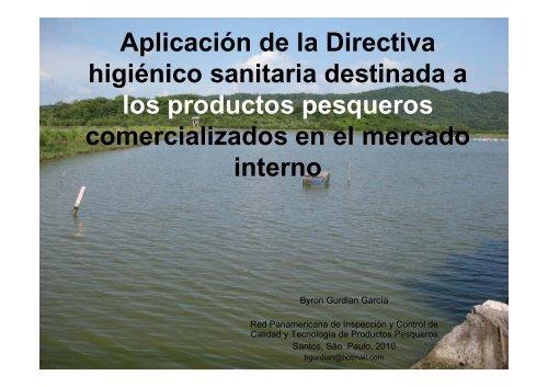 Aplicación de la Directiva higiénico sanitaria destinada a los ...