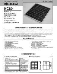 modulo fotovoltaico policristalino de alto ... - KYOCERA Solar