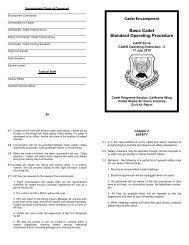 Basic Cadet Standard Operating Procedure - California Wing Cadet ...