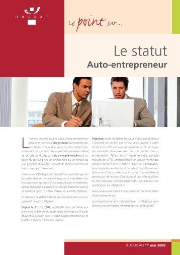 Le point sur le statut d'auto-entrepreneur de l'URSAFF - CCI du Jura
