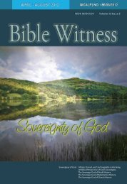 Sovereignty of God - Bible Witness Media Ministry