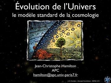 le modèle standard de la cosmologie - APC