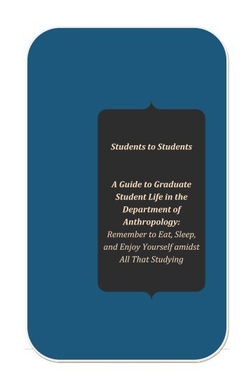 Students to Students A Guide to Graduate Student Life in the - Blogs