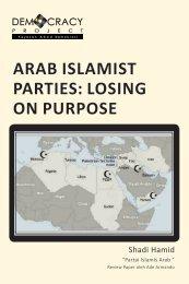 arab islamist parties: losing on purpose - Democracy Project