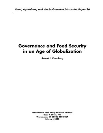 Governance and Food Security in an Age of Globalization