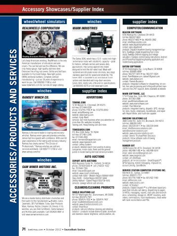 accessories /products and services - Tow Times Magazine Online