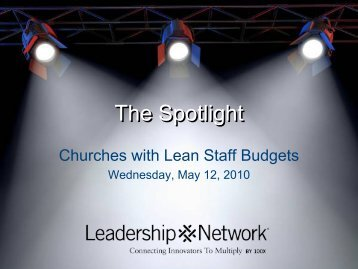 lean staff budgets - Leadership Network