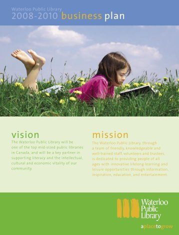 vision mission - Waterloo Public Library