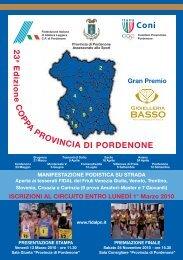 Coppa Provincia di Pordenone - Gruppo Sportivo Atletica Fiamme ...