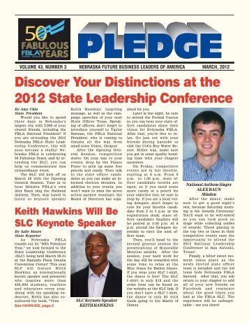 Discover Your Distinctions at the 2012 State ... - Nebraska FBLA