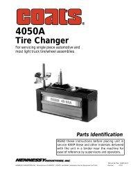 4050A Tire Changer - aesco