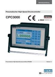 CPC3000 Pneumatischer High-Speed Druckcontroller