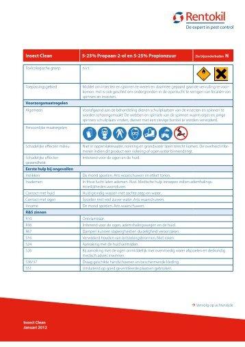 Insect Clean 5-25% Propaan-2-ol en 5-25% Propionzuur - Rentokil