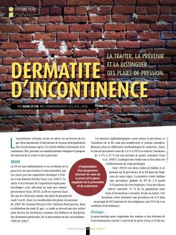 Dermatite d'incontinence - Ordre des infirmières et des infirmiers du ...