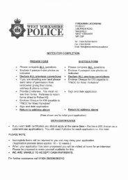 Shotgun Application Pack - West Yorkshire Police