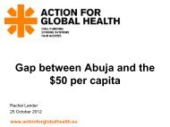 Delivering Effective Aid for Health - Action for Global Health
