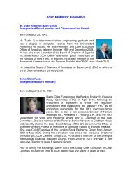 Profiles of the members of the Board of Directors. - Investor relations ...