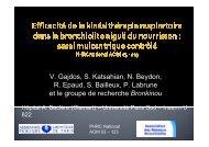 Kinésithérapie et bronchiolite