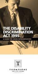 Disability Discrimination Brief Guide